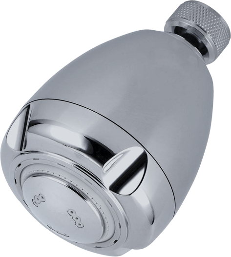 """Bits B150CH Water Conservation 3"""" 3-Way Chrome Bullet Showerhead"""