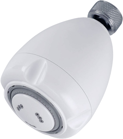 """Bits B150W Water Conservation 3"""" 3-Way White Bullet Showerhead"""